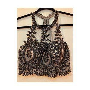 Tan Formal Dress-2 piece
